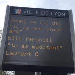 Printemps des Poètes Lyon 2017, Tant